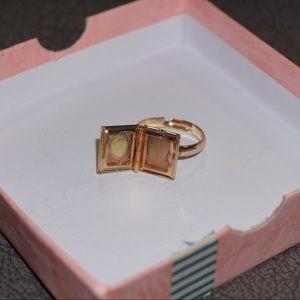 Bookworm Locket Ring